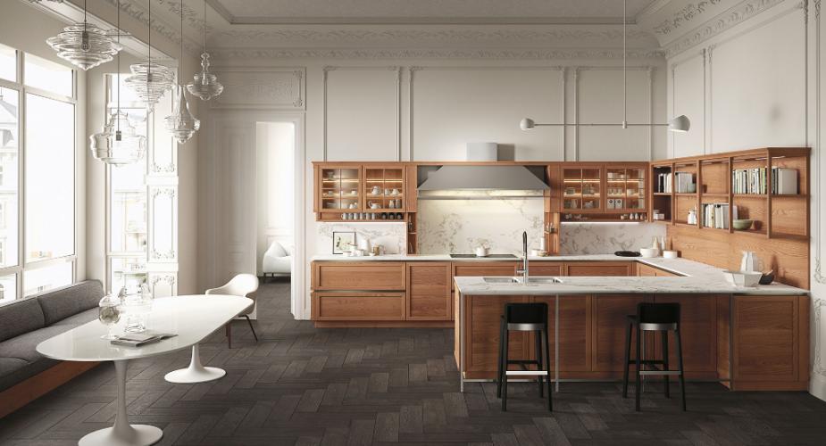 Scopri le cucine moderne con un tocco di classicità di Snaidero