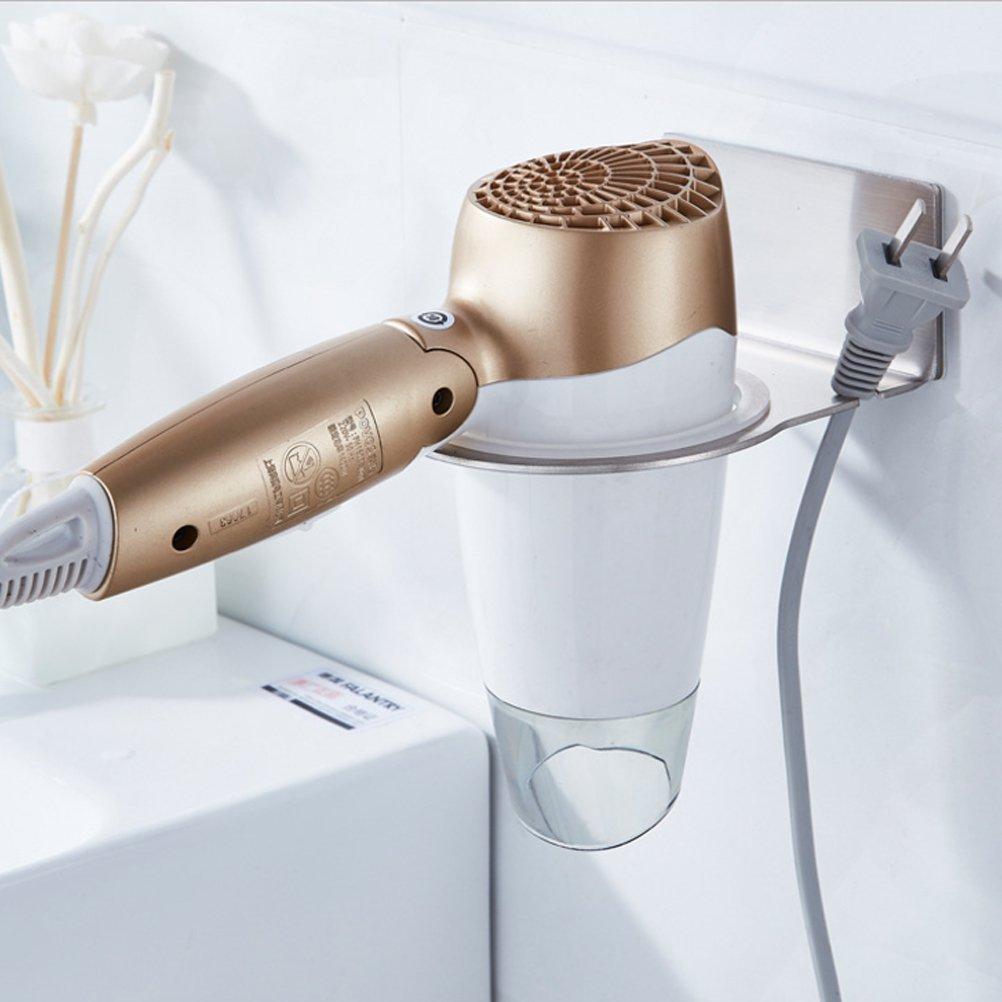 Accessori bagno supporto per asciugacapelli in acciaio inox da parete shop life - Accessori bagno inox ...